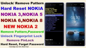 factory reset screen lock removal