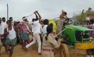police-team-attacked-by-trs-workers-in-telangana